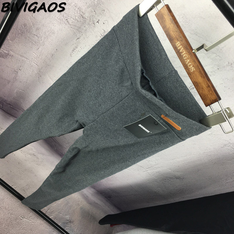 BIVIGAOS New Womens Casual Thicken Nine Pants Leggings Waist Leather Lable Elastic Cotton Leggings Pants Female Women Clothing 6
