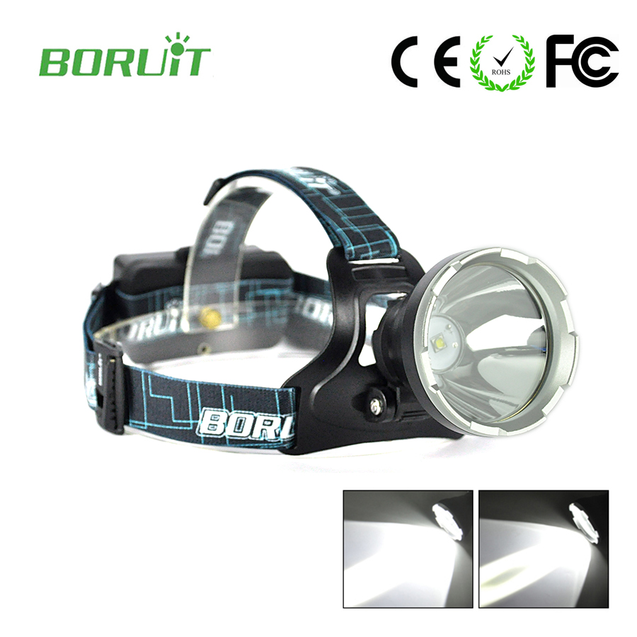 Boruit Rechargeable head lamp high power led flashlights forehead headlamps for hunting headlamp 18650 with USB charger cable