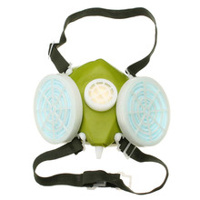 Double Cartridges Respirator Mask Industrial Gas Chemical Anti-Dust Spray Paint Respirator Face Masks Filter Glasses Goggles