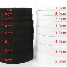 Width 0.6-5cm 5M White Black Elastic Band Spandex Belt Trim Sewing/Ribbon Clothes Flex Sewing Material for Shorts Skirt Trouse
