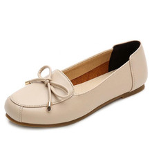ELGEER New spring and autumn simple casual shoes round head single female flat bottom sexy shallow mouth low with wild