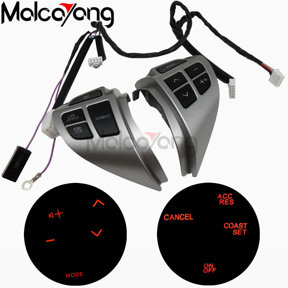 Car styling buttons FOR Mitsubishi ASX Multi function Car steering wheel control buttons with cables