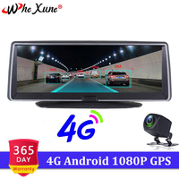 WHEXUNE 8inch 4G ADAS GPS Navigation Car dvr camera Full HD 1080P dash cam android WIFI driving recorder dual dvr auto for truck