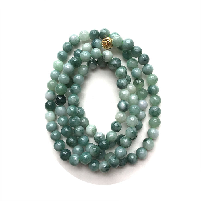 Natural yu bracelet or necklace 108 7mm floating blue flower men and women fashion yu beads/Natural yu bracelet or necklace 108 7mm floating blue flower men and women fashion yu beads/