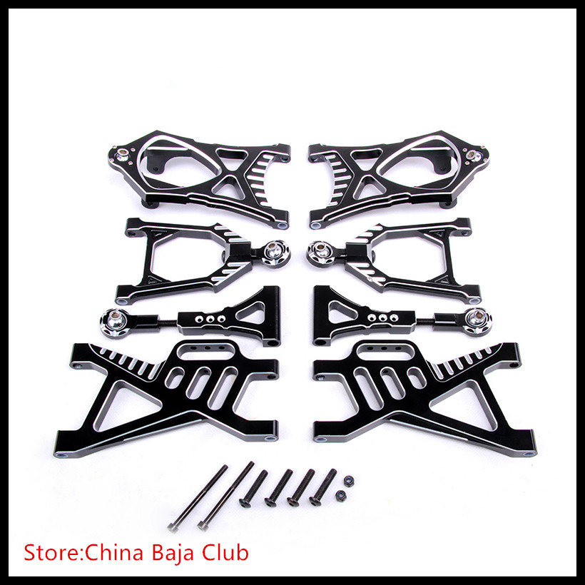 NEW CNC Alloy Arm Set for 1/5 hpi baja 5b parts km rovan сигнализатор поклевки hoxwell new direction k9 r9 5 1