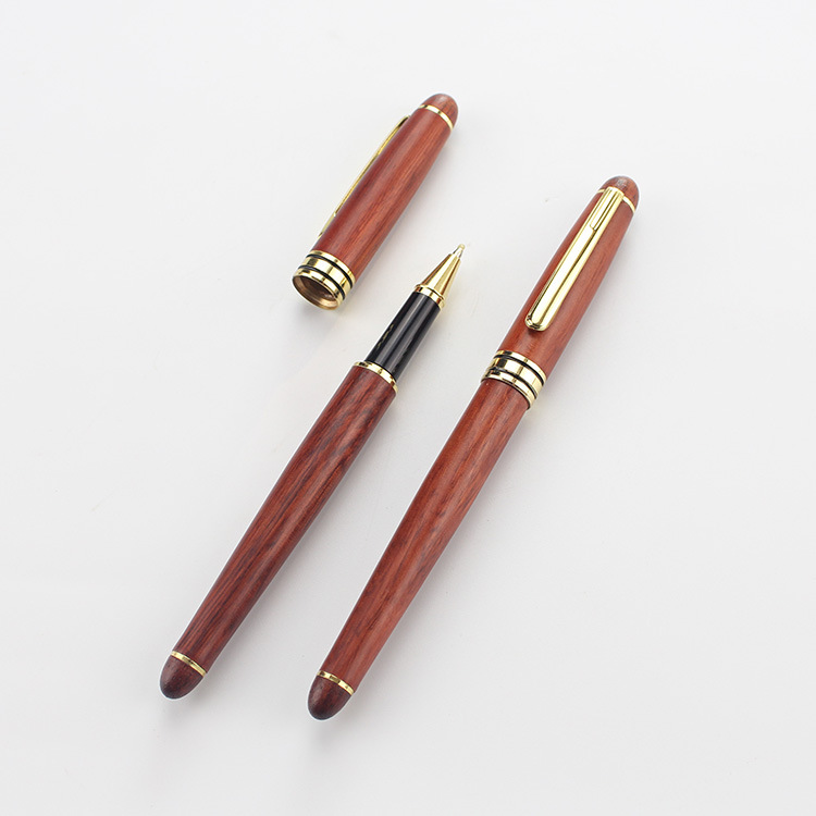 fashion gifts School Stationary Spotted deer Writing Pen Ball Point Wooden pen