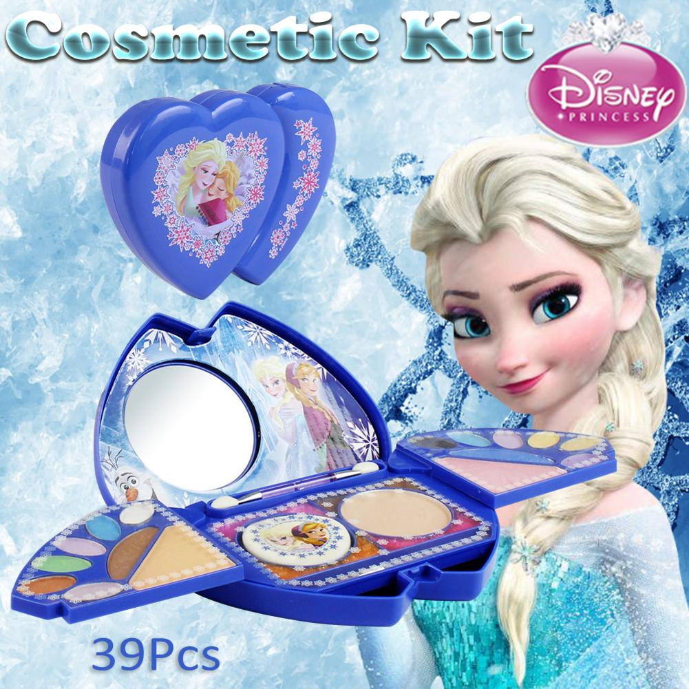 39Pcs Disney Cosmetic Kit For Disney Frozen Series Makeup Set For Girls Practice Make Up Toy Ornaments Toy For Children Gift