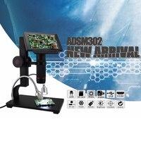 ADSM302 Microscópios Microscópio Eletrônico USB 1080 P Full HD de Vídeo Digital 5 polegada Câmera Lupa Industrial Controle Remoto