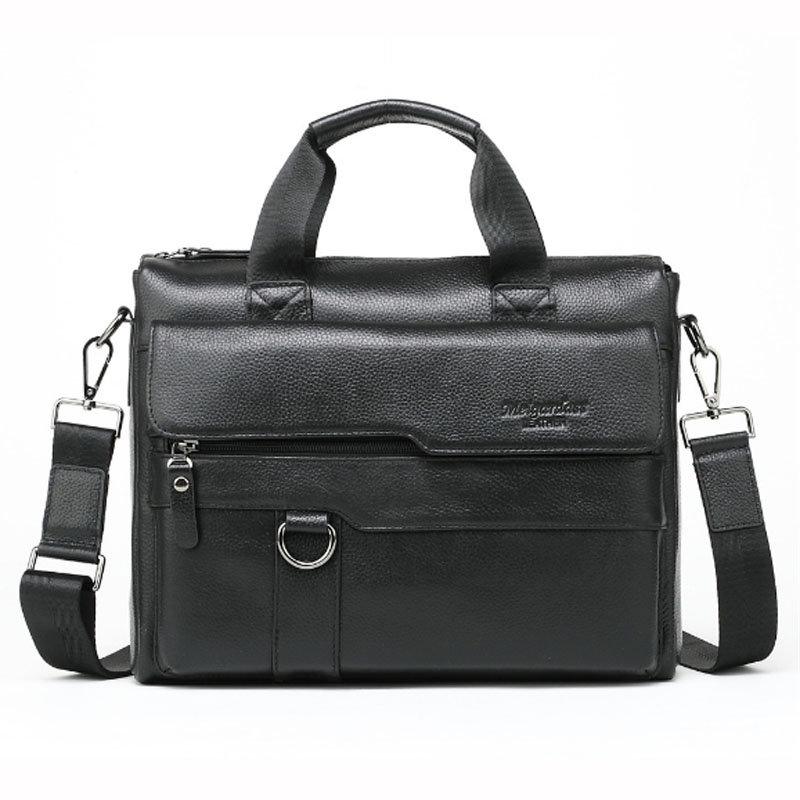 High quality New genuine leather men Cross Body Top Handle fashion men's business briefcase bag big capacity handbags new high quality 100% genuine leather men handbags brand fashion men s business briefcase bag big capacity men laptop bag 310 l