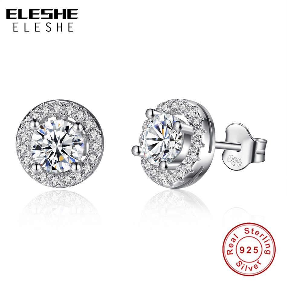 67310519f8106 ELESHE Romantic Jewelry Stud Earrings For Wedding Elegant 925 Sterling  Silver AAA Cubic Zirconia Stone Earring