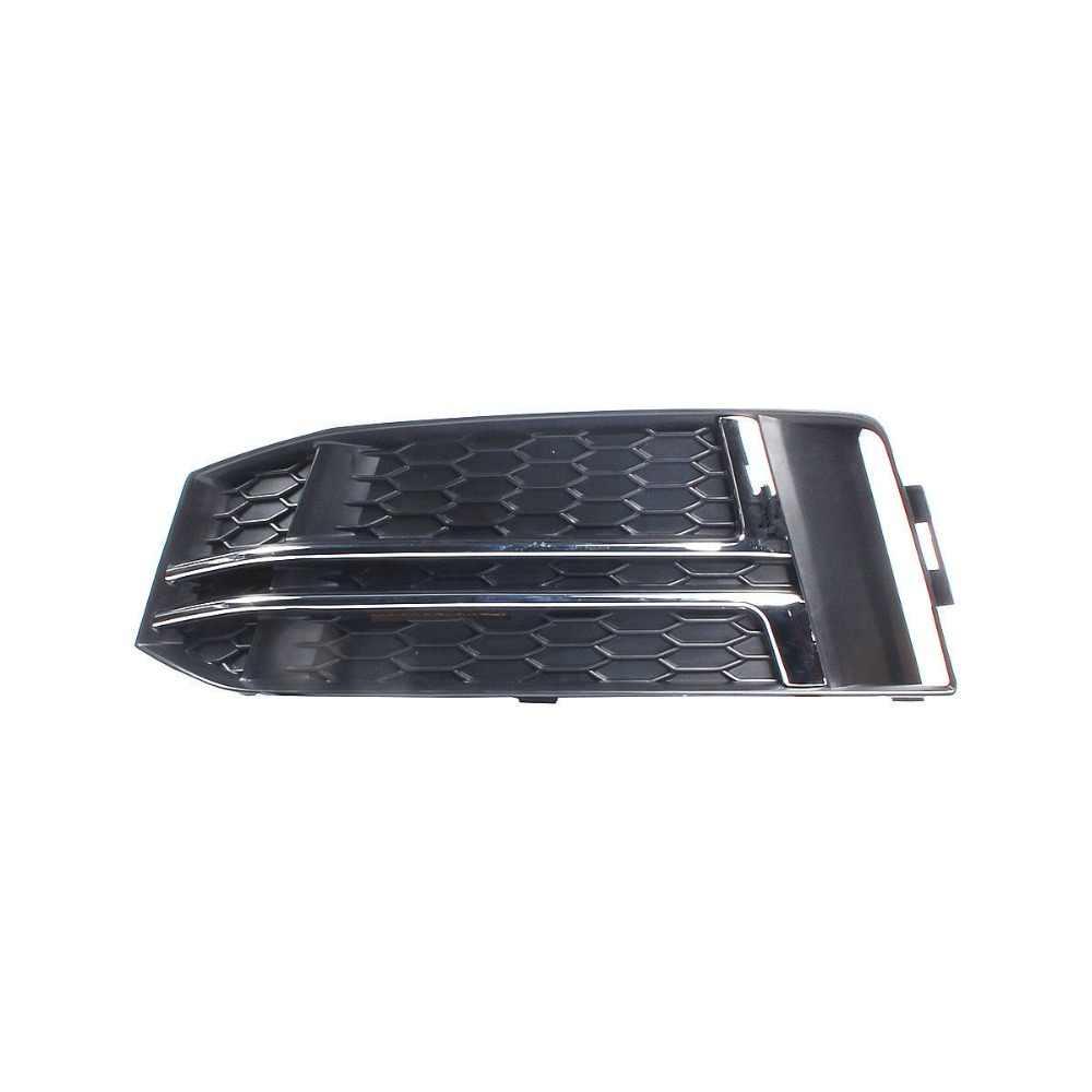 Chrome Left Right Fog Light Grille For AUDI S4 A4 S-Line B9 2017-2018 No Hole 8W0 807 681 L 8W0 807 682 L/K/H/G/F