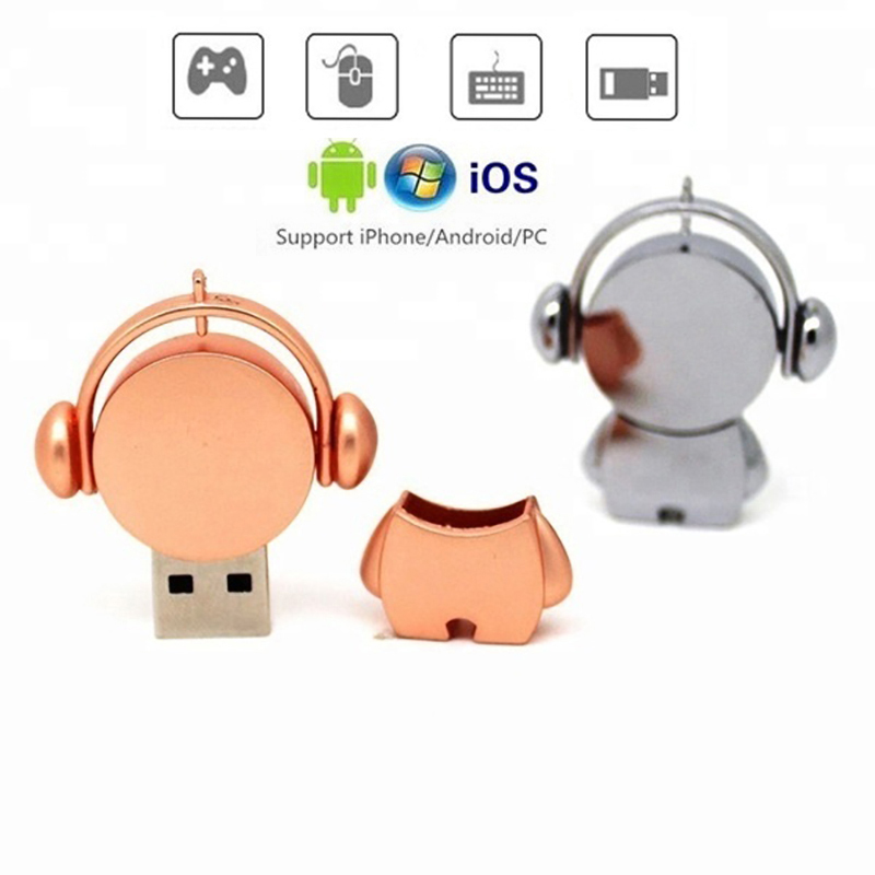 Musician Metal Usb 3.0 Flash Drive 64GB 32GB 16GB 8GB 4GB Flash Drive Portable 128GB Memory Stick Pendrive Storage Flash Disk