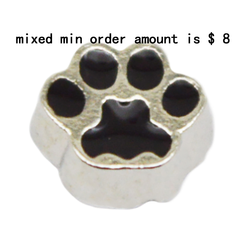 2016 Hot Sale jewelry 10pcs Dog floating charms for glass lockets,Y-71