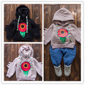 Wholesale 2016 new Hot autumn and winter baby boys and girls hooded cartoon printed Boys Coat  Streetwear Clothing