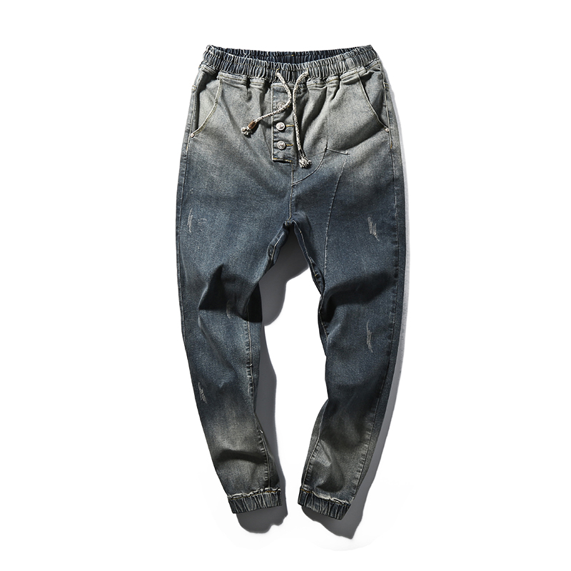New 2017 Men Denim Hip-Hop Jeans Harem Jeans Casual Pants Men's Pants Male Blue Trousers Size Big Yards 5XL утюг scarlett sc si30p07