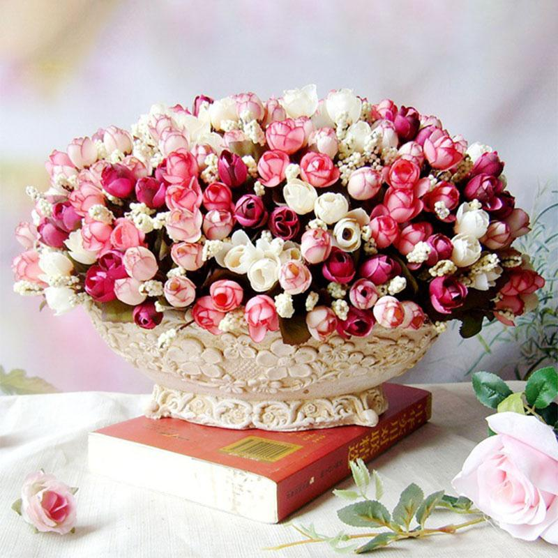 artificial flower rose bouquet hotel room wedding party garden decoration