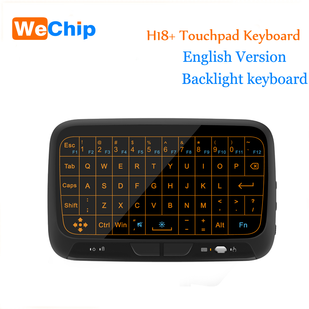 8f4210373d6 Periferia de calculator Wechip Mini H18 Wireless Keyboard 2.4 G Portable  Keyboard With Touchpad Mouse for Windows Android Smart TV Linux Windows Mac