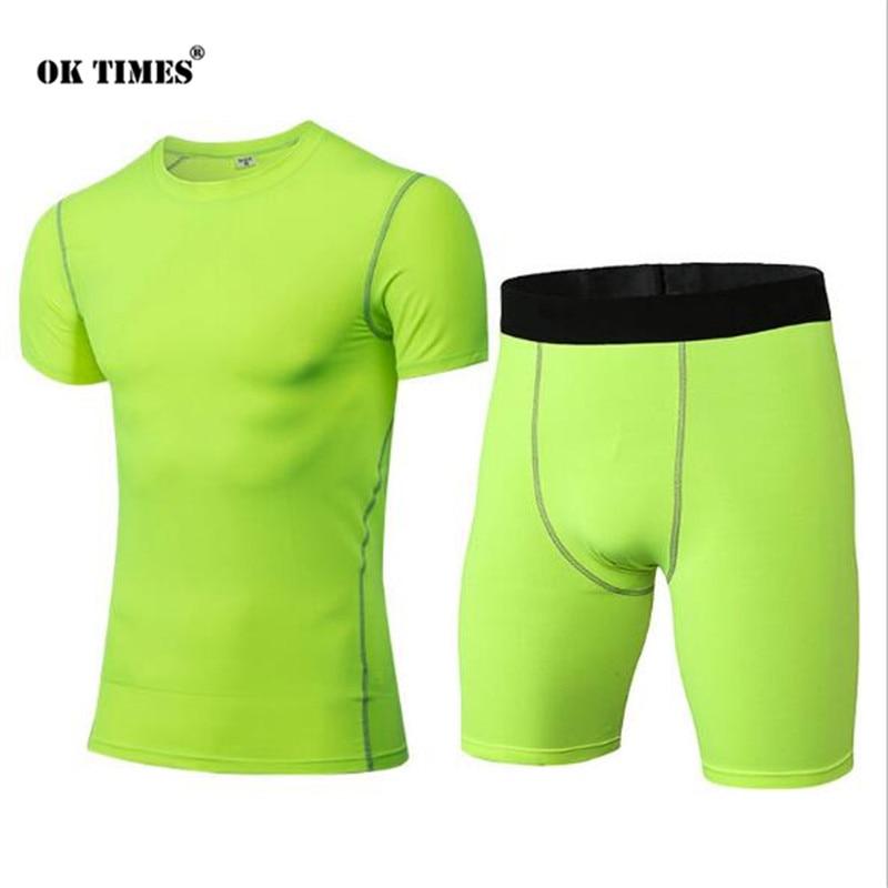 #0304 Sport Training Männer Jungen Joggen Hohe Elastizität Gym Fitness Compression Thermische Strumpfhosen Quick Dry Top + Shorts Sets S ~ Xxl 2019 Offiziell