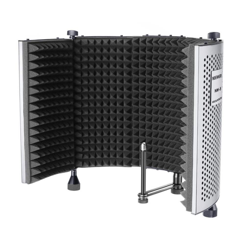 Neewer NW-5 Foldable Adjustable Portable Sound Absorbing Vocal Recording Panel for Stand ...