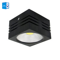 [DBF]Black Square Dimmable 7W/5W AC 110V/220V LED Aluminum Spot Light COB Surface Mounted LED Downlight Ceiling Lamp Home Decor