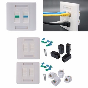 Image 2 - Wall Plate 4 Ports CAT5e/CAT6 RJ45 Jack Network Socket 86mm Standard Wall Plate high Quality