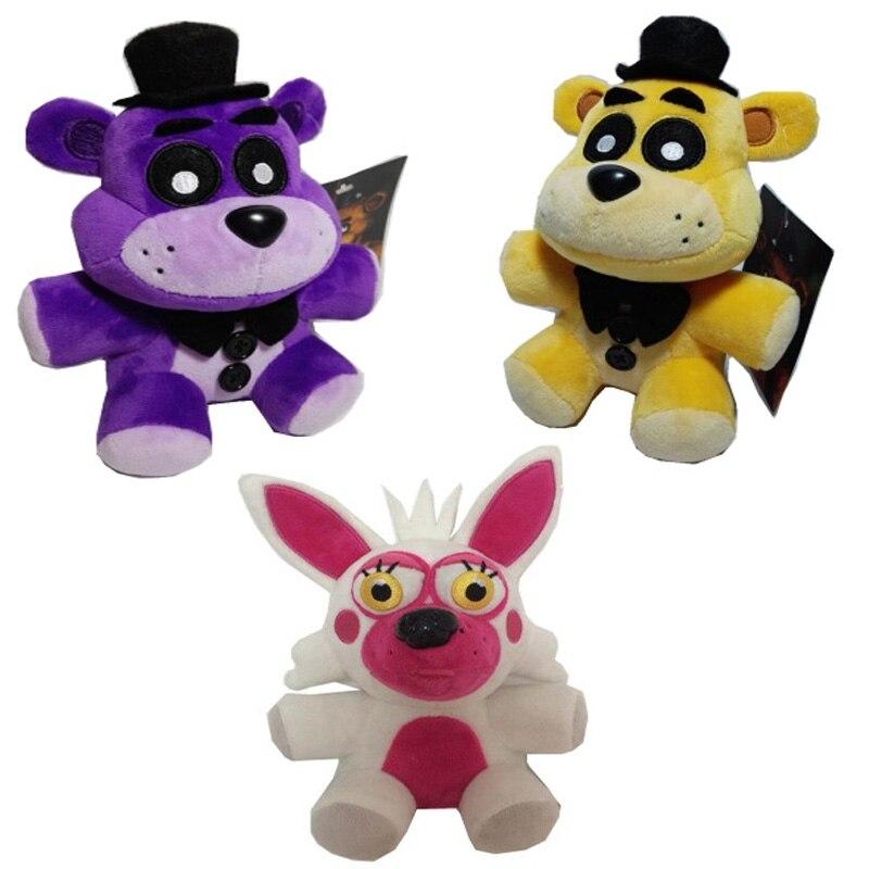 Jaunās piecas naktis Freddija 4 FNAF Bonnie Foxy Freddy Fazbear Lāča rotaļlieta lelle 18cm pildīti dzīvnieki lelle Bērnu Ziemassvētku lelles