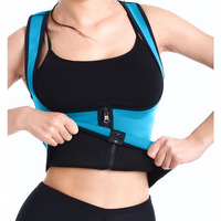 Sauna Sweat Body Shaper Zipper Vest Neoprene Waist Trainers Corset Fat Burn Tummy Control Tank Tops