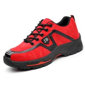 Image 5 - Dropshipping homens e mulheres botas de segurança ao ar livre sapatos masculinos de moda smash proof puncture proof trabalhadores tênis