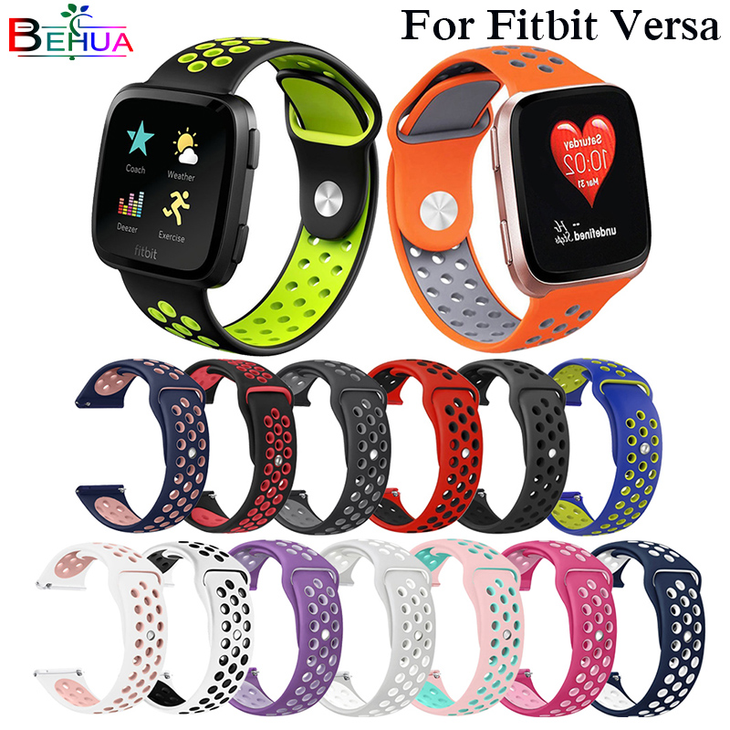 New Soft Silicone Replacement Sport Wristband Watch Band Strap for Fitbit Versa Bracelet Wrist Watchband Colorful