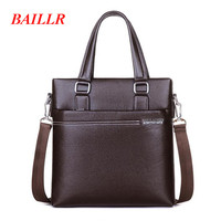 BAILLR Multi Function Shoulder Bag Business Briefcase Korean Leather Satchel New Fashion Messenger Crossbody Bag For