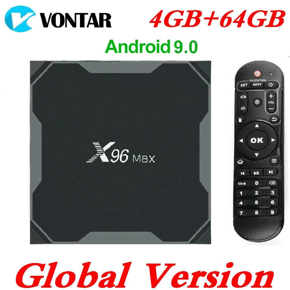 Amlogic S905X2 Android 9.0 TV BOX X96Max Mini 4K Smart Media Player 4GB RAM 64G TVBox X96 Max Android 8.1 QuadCore 2.4G&5G Wifi