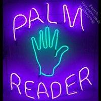 Barato Lector de palmeras luces de neón bombillas de neón señales de neón Vintage letrero de negocios