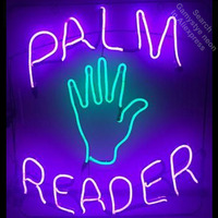 Palm Reader Neon Sign light Neon Bulbs Signage Vintage neon signs Business Sign Real Glass Tube with clear Board Beer Sign