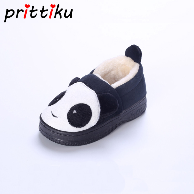 Baby Toddler Boys Girls Cartoon Animal Panda Home Slippers Little Kids Faux Fur Winter W ...