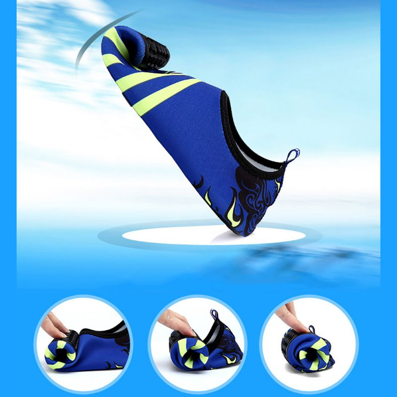 New Beach Pool Gym Aqua Water Socks Beach Swim Upstream Shoes Men Woman Unisex Barefoot Skin Sock Striped Shoes