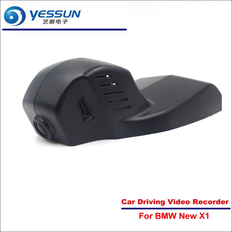 YESSUN Car DVR Driving Video Recorder For New BMW X1 Front Camera Black Box Dash Cam Head Up 1080P WIFI Phone APP bigbigroad for peugeot 308 2014 2015 car wifi dvr driving video recorder front camera dash cam black box keep car original style