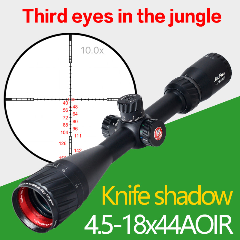 JouFou 4.5-18X44AOIR Hunting Riflescope Tactical Rifle Scope Wire Reticle Optical Sight with with 11mm ,20mm Rings sniper 3 9x40e tactical hunting riflescope rifle scope outdoor wire reticle sight optics scopes with 11mm or 20 mm rings