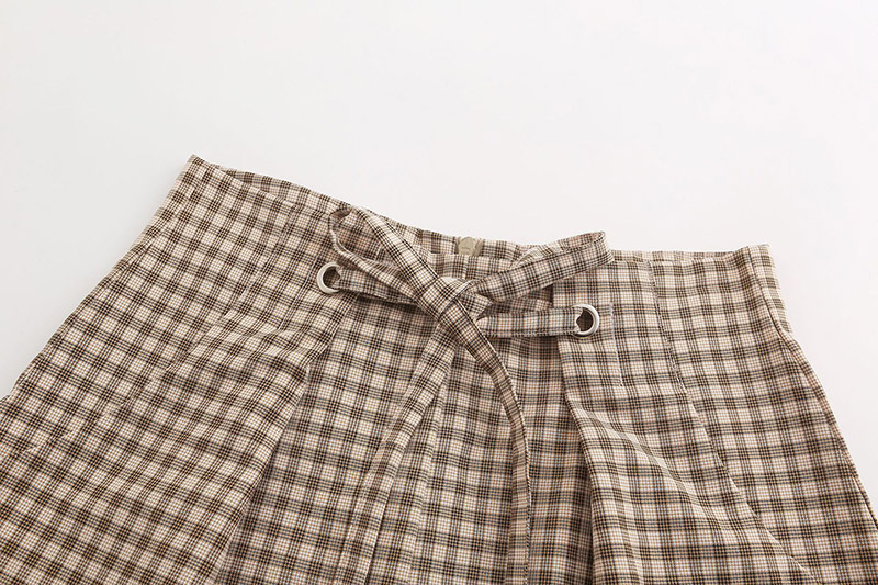 Forefair Women Shorts Plaid Summer (5)