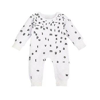 550629de679 Ropa de bebé recién nacido Niños Mamelucos letra impresa mono traje de manga  larga ropa bebes recien nacido moda mameluco infantil