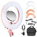 Meking RL-10 40 W 3200 K 5600 K de Vídeo LED Dimmable Lámpara de Luz Anillo de Luz Estudio de Maquillaje con Espejo