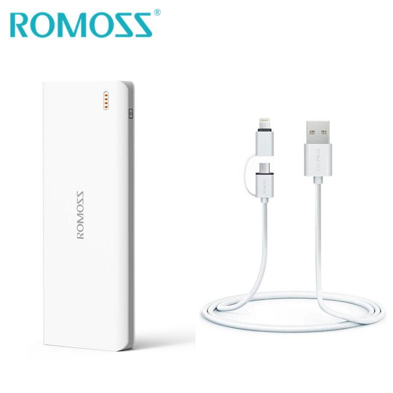bilder für Romoss sinn 9 energienbank 25000 mah 3 usb external battery pack ladung batterie Bank + 2 in 1 Lade Usb-kabel für IOS & Android