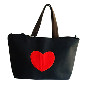 Tote Bags for Women Heart Print Canvas Tote Shopping Large Capacity Women Canvas Beach Bags Casual Tote Purse Handbags