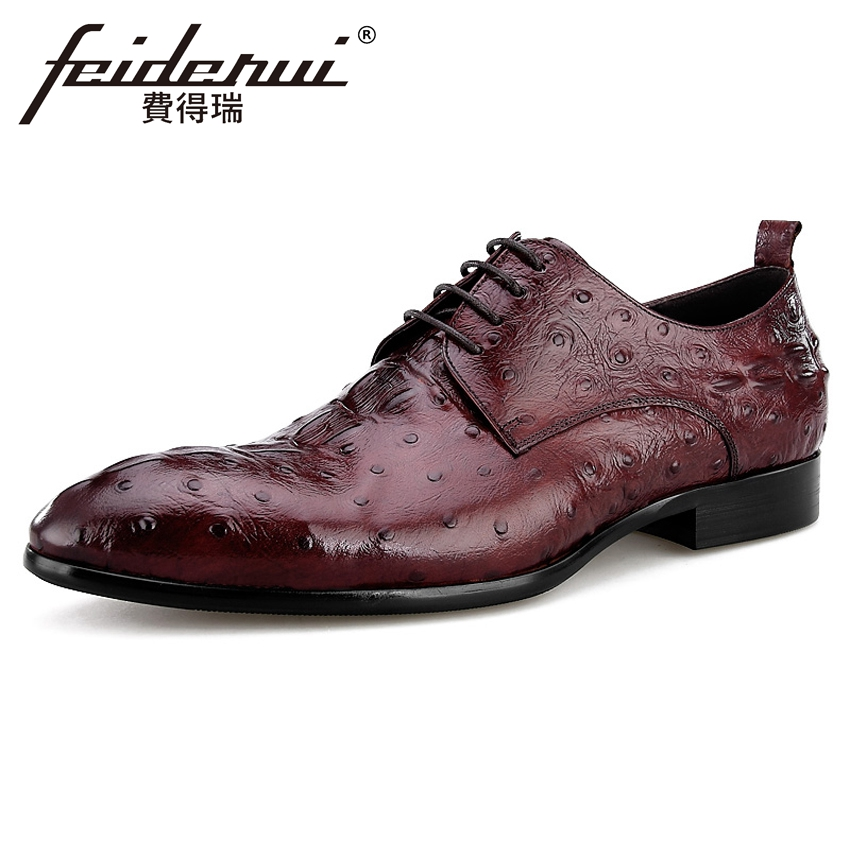 Luxury Genuine Leather Mens Footwear Pointed Toe Alligator Man Wedding Party Flats Formal Dress Designer Male Derby Shoes BQL89 ...