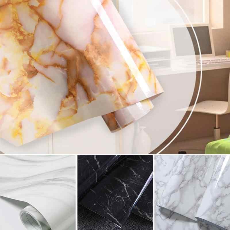 Self Perekat Peel Tongkat Rolling Kertas 60X50 Cm Perekat Wallpaper Granit Marmer Efek Tahan Air Tebal PVC Wallpaper #719