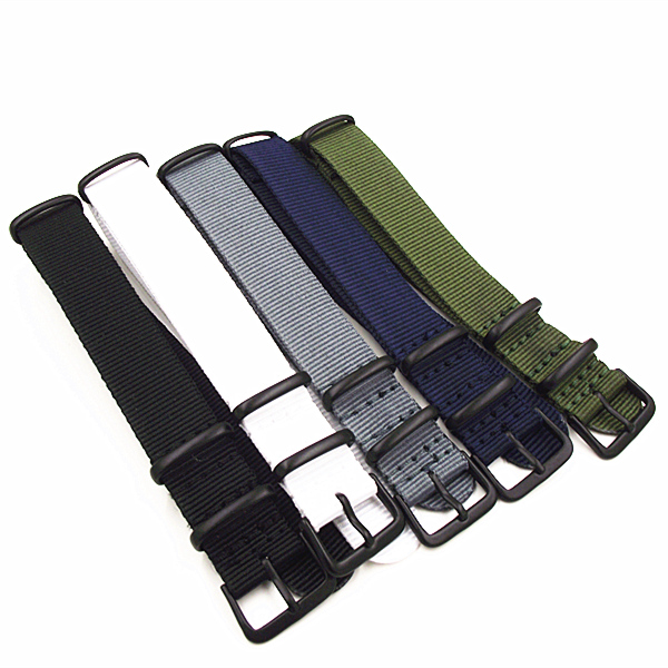 Black buckle 1PCS High quality 18MM 20MM Nylon Watch band NATO straps waterproof watch strap 5 colors available