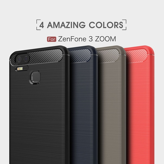 purchase cheap ab7b4 618e0 US $1.59 20% OFF|Fashion Carbon Fiber Case For ASUS ZenFone 3 Zoom ZE553K  Case Ultra Slim Gel Soft Silicone Cover For ZenFone 3 Zoom S Case 5.5