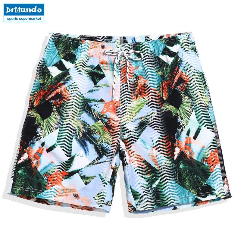 Board shorts men swimming trunks sexy print flowers mens swimwear beach surfing gym running short joggers bermudas masculina
