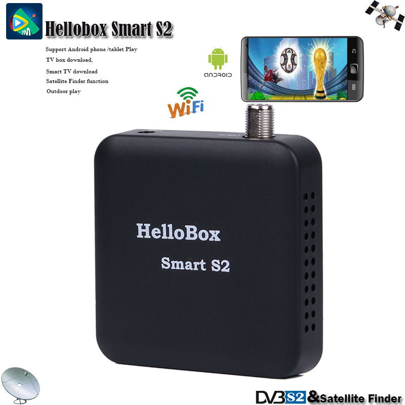 New Satellite Receiver Support CCAM Android Phone/Tablet Play Portable Satellite TV Receiver Outdoor Play DVBS2