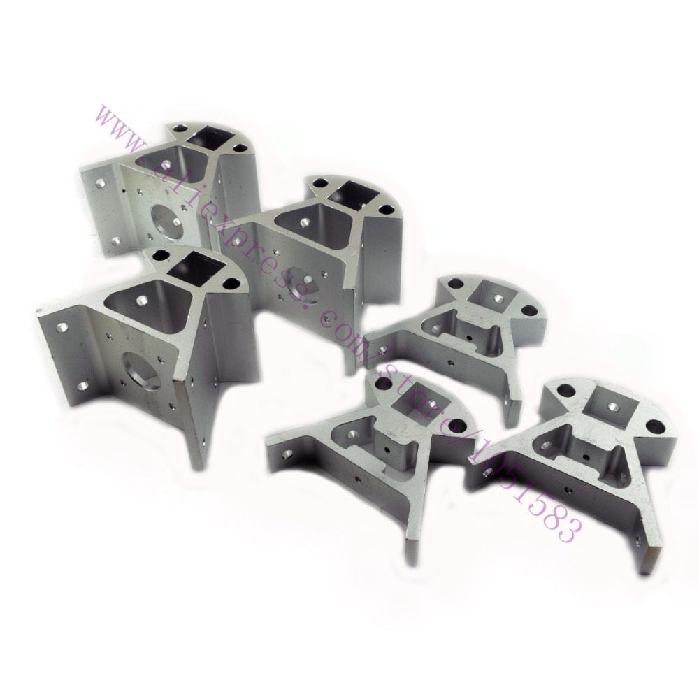 1x RepRap Delta Kossel Mini Corner Fitting Aluminum Alloy Mount Frame Bottom Vertex Top Vertex kit