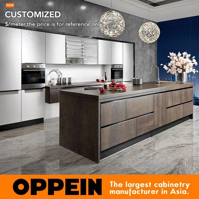 Guangzhou OPPEIN & Großhandel Weiß Lack Modulare Küchenschrank ...